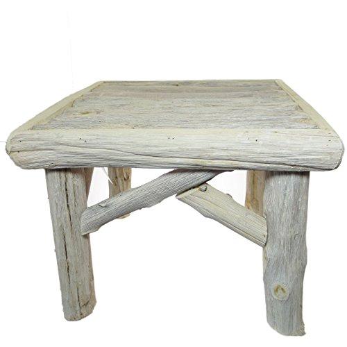 COUNTRYFIELD Tavolo in legno Tavolino 'Morrice S' 33cm · Bianco Naturale