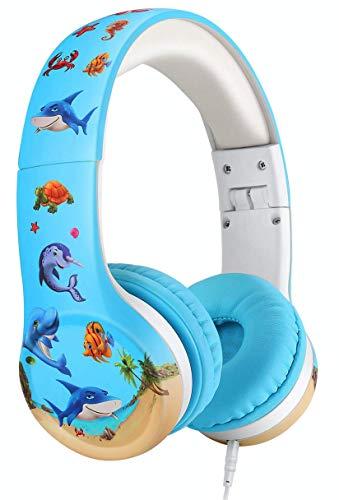 41boMw88GVL. SL500  - Nenos Kids Headphones Children's Headphones for Kids Toddler Headphones Limited Volume (Red)