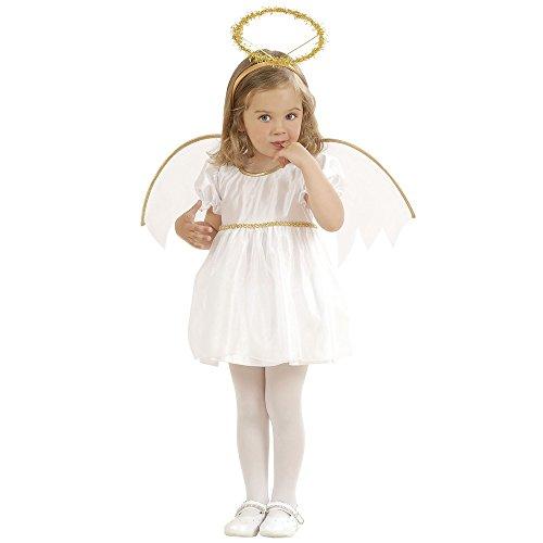 Widmann, Traje de ángel para Niñas, Blanco, 1-2 años (98 cm)