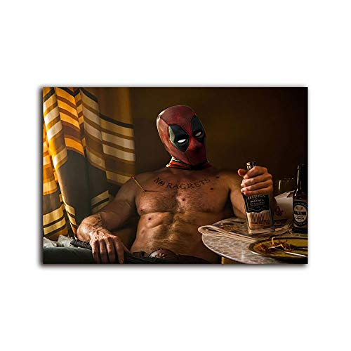 wall art for living room deadpool drinking vodka rh ,Painting Canvas Modern Seascape Home Office Decor 16x12 inch