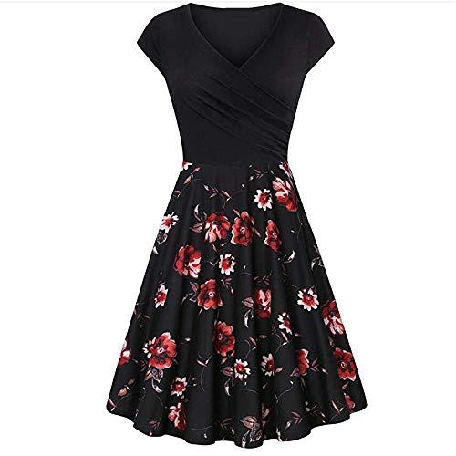 x8jdieu3 Vestido Delgado De Verano con Cintura Alta Y Estampado Floral