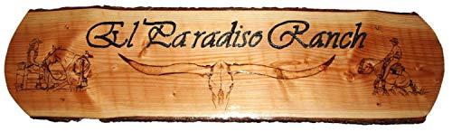 NETPROSHOP houten bord, deur- en deurbord, stalbord, huis- en hofbord 1,10 m