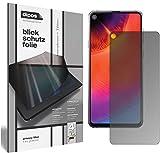 dipos I Blickschutzfolie matt kompatibel mit Samsung Galaxy A8s Sichtschutz-Folie Bildschirm-Schutzfolie Privacy-Filter (bewusst Kleiner als das Glas, da Dieses gewölbt ist)