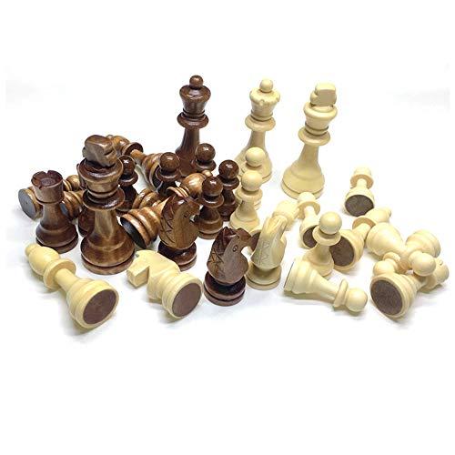 Guanici Juego de ajedrez completo con piezas Piezas de ajedrez internacionales portátiles Fácil Llevar para Viajar Juego Ajedrez para Niños Infantil Adulto para Juegos al Aire Libre o Regalos