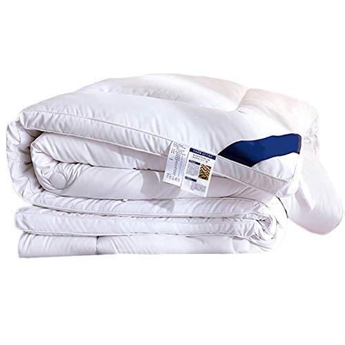 WAJIEFD Algodón de Fibra de Proteína de Soja Edredón Cuatro Estaciones Doble Individual Lavable, 2 Colores,16 Tamaños (Color : White, Size : 220X240CM-4KG)