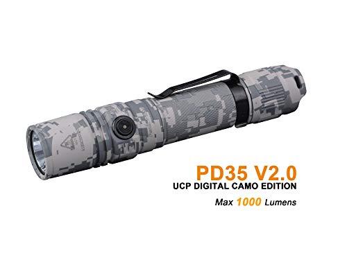 Fenix by Benture Fenix PD35 V2.0 UPC Digital Camo Versión IP68 Linterna Flash Light 1000 lúmenes, Unisex-Adult, Small