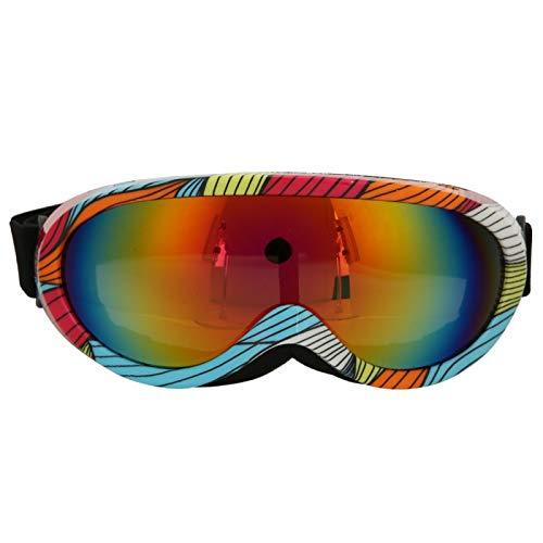 Gafas Esquí Adultos Niños Unisex Rayas Al aire libre Una sola capa A prueba de viento Gafas de esquí Gafas de protección ocular, Adecuado para esquiar, escalar, montar en bicicleta y otras actividades