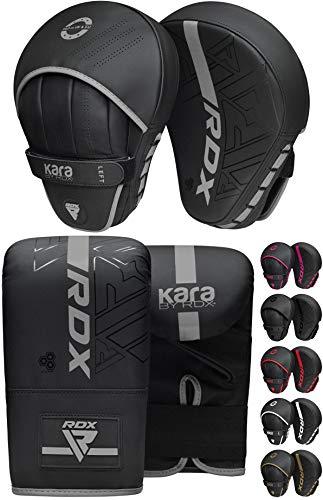 RDX Pratzen und Boxhandschuhe Set, Kampfsport Handpratzen Boxsack Handschuhe, Kickboxen Muay Thai Boxpratzen Mitts, MMA Training Boxen Pads, Sparring Punchinghandschuhe Boxpads (MEHRWEG)
