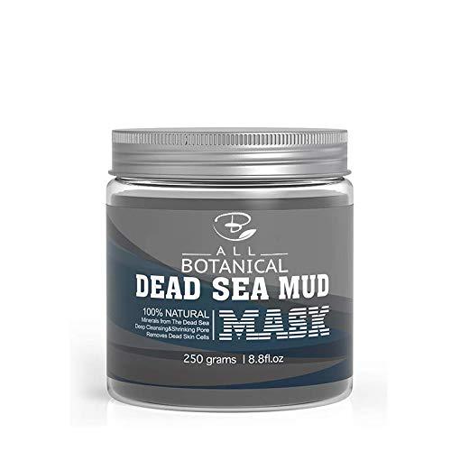 Dead Sea Mud Mask 250g - Minerales 100% naturales, Aceite de jojoba, Aceite de argán, Vitamina C - Minimiza los poros, elimina las espinillas, reduce el acné y las arrugas