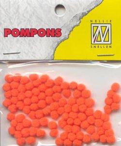 Nellie Snellen Choice Mini Pompons orange 100 ST 3mm