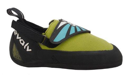 Evolv Venga Rock Shoes - Kid's Climbing shoes 5 Blue/Lime Green