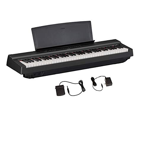 Yamaha P121 73-Key Weighted Action Compact Digital Piano, Black