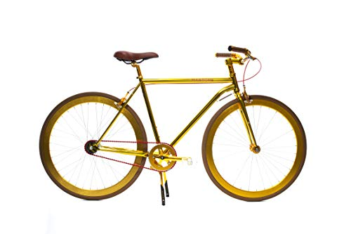 Check Out This Martone Cycling Co. Men's Grand V3 Bicycle Diamond Frame, Gold (52, 52)