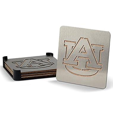 Sportula YouTheFan NCAA Auburn Tigers 4-Piece Stainless Steel Boaster Drink Coaster