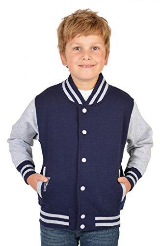 Goodman Design ® Jungen USA Collegejacke - Beale Street 56 - in Navy-blau - Geschenk/Cooles Rockabilly Outfit für Schule oder Freizeit, Kinder Größe:XL / 152
