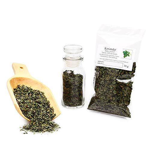 Korianderblätter gerebelt für Fleischgerichte | Passt zu Suppen, Einmachgewürz, Gurkensalat uvm. 10g