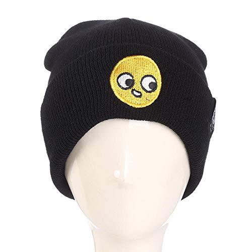 Nwarmsouth mit Kunstpelz Pom Pom Hut, Outdoor warme Manschette Bestickt Strickmütze, Cartoon Wolle Cap-2, Lange Baggy Winter Sommer Hüte