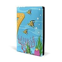 ブックカバー a5 七さかな うみ きれい 文庫 PUレザー ファイル オフィス用品 読書 文庫判 資料 日記 収納入れ 高級感 耐久性 雑貨 プレゼント 機能性 耐久性 軽量