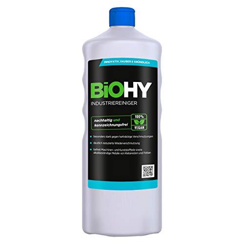 BiOHY Industriereiniger (1l Flasche) | niedrigschäumender Schmutzbrecher | entfernt Fette und Öle auf allen wasserfesten Oberflächen | geeignet für den Industrie- und Werkstattbereich