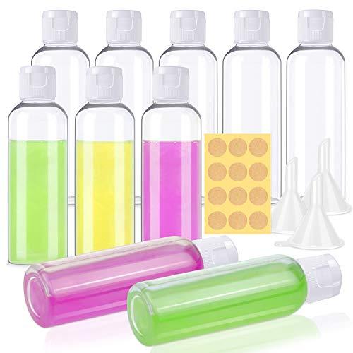 Small Plastic Travel Bottles, Shynek 2 oz Plastic Bottles with lids Empty Lotion Bottles Small Travel Bottles Bulk with Funnels for Liquids Lotion Shampoo
