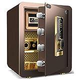Sigiloso Robo de Seguridad for el hogar a Prueba de Fuego, con la manija Invisible Tubo de Sonido y Dispositivos de Alarma Triple, for Hotel/Oficina, de Chapa de Acero Completa, de Alta 45CM