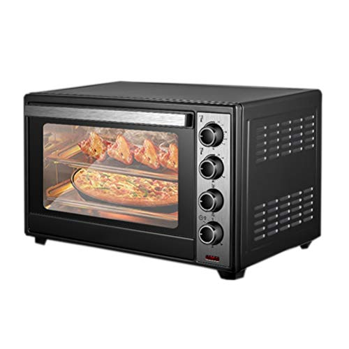 40L Mini Oven, 120 Minutes Timer & Temperature Control 0-250℃, Electric Oven, Automatic Rotating Roast Chicken, Easy To Clean, Toaster Oven