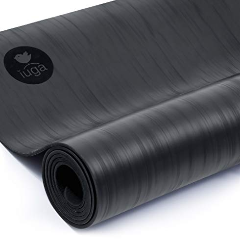 IUGA Pro Non Slip Yoga Mat, Unbeatable Non Slip Performance, Eco Friendly and SGS Certified Material for Hot Yoga, Odorless Lightweight and Extra Large Size, Free Carry Strap