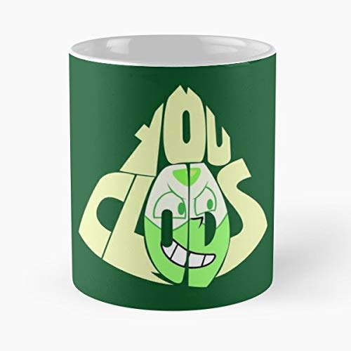 92Wear Peridot Su Steven Universe Homeworld Gems Crystal Cartoon Network Clods Clod - Best 11 oz Taza De Café - Taza De Motivos De Café