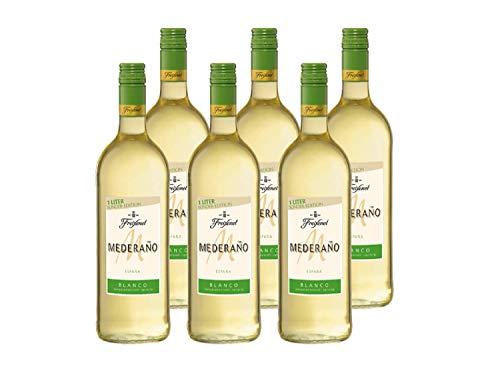 Mederaño Blanco Wein 1, Cuvée, Wein aus Spanien, halbtrocken, Spanische Rebsorten, (6 x 1l)