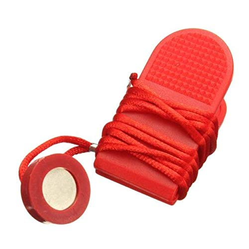 LAQI Roter Tretmühlen-Schalter-Verschluss, Laufmaschinen-Sicherheitsschlüssel-Tretmühlen-Magnetschalter-Verschluss für Eignung