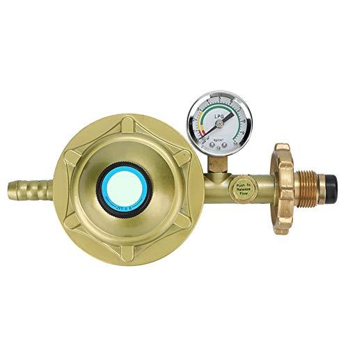 ROSEBEAR Druckminderer Flüssiggas Universal Haushalt Flaschen Flüssiggas Druckminderer Ventil mit Manometer Gold