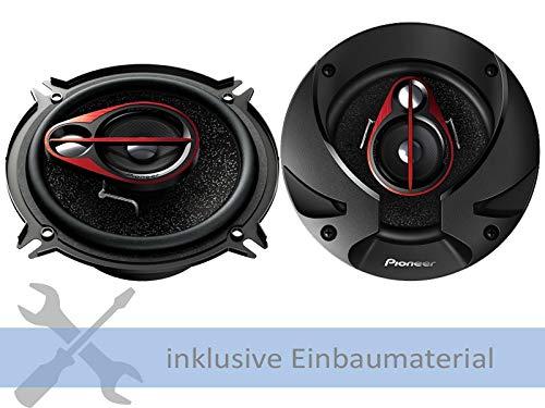 Pioneer Lautsprecher TS-R1350S 250 Watt 130 mm 3-Wege Koax für Dacia Sandero alle Baujahre Türen Front und Heck