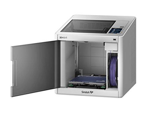 "Sindoh - 3D1AQ - 3DWOX 1 3D Printer - Open Source Filament, WiFi, Heatable Metal Flex Bed, HEPA Filter, Intelligent Bed Leveling Assistance, Built-in Camera, Build Size 8.2""x7.9""x7.7"""