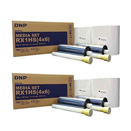 DNP 2X Print Media for DS-RX1HS High Speed Dye Sub Printer - 4x6 700 Prints Per Roll; 2 Rolls Per Case (1400 Total Prints)