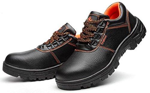 ML3l42 ガレット デ ロワ (galette des Rois) ローカット ハイカット 釘 防止 安全靴 作業靴 メンズ 先芯入り スニーカー ブーツ シューズ 靴 耐油 防滑 踏み貫き (26.0(42), ローカット(オレンジ))