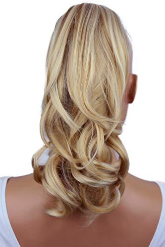 PRETTYSHOP 30cm Haarteil Zopf Pferdeschwanz Haarverlängerung Voluminös Gewellt Blond Mix H83