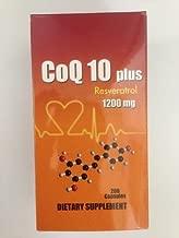 Coq 10 Plus Resveratrol (1200mg, 200 Capsules) Coenzyme Q10 Nutri-sky-bio-jett