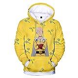 RENEO Manga Larga Jersey para Fanes de Anime,Pullover de Manga Larga con Sudadera de One Punch Man, Disfraz de Cosplay de Exposición de Anime-Wyz 261_S