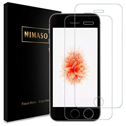 【2枚セット】 Nimaso iPhone SE (2016年版) / 5S / 5 / 5C 用 強化ガラス液晶保護フィルム 貼り付け簡単/硬度9H/高透過率/気泡ゼロ