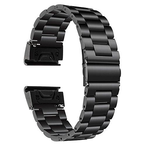 TRUMiRR Fenix 5 Correa de Reloj, 22mm Banda de Reloj de Pulsera de Acero Inoxidable con Correa de Reloj de Fácil Liberación y Ajuste Rápido para Garmin Fenix 5/Forerunner 935 (FR935)/Approach S60