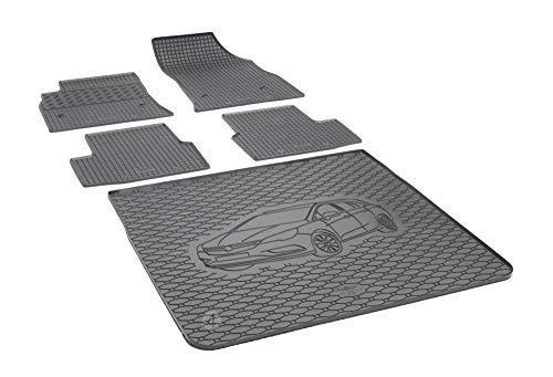 Passgenaue Kofferraumwanne und Gummifußmatten geeignet für Opel Astra K Sports Tourer ab 2015 + Autoschoner MONTEUR