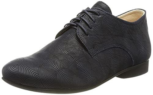 Think! Guad_3-000412 chromfrei gegerbte Wechselfußbett, Zapatos con Cordones. Mujer, 8000 Marine, 39.5 EU