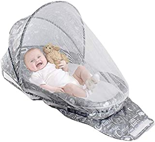 Portable Bassinet | Foldable Baby Bed with Mosquito Net, Light and Music | Baby Lounger Travel Crib Infant Cot