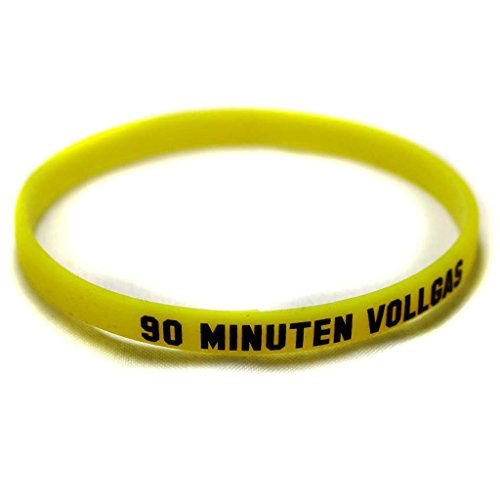 Borussia Dortmund Armband / Armbänder 5 Motive zur Auswahl Silikon - Schmuck BVB 09 (90 Minuten Vollgas)