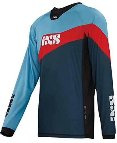 IXS Unisex volwassenen Race 7.1 jersey nachtblauw-fluo rood XL onderhemd, blauw
