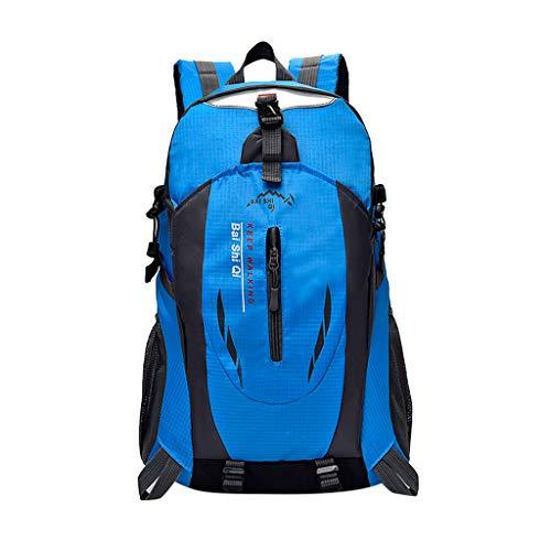 Yowablo 40L wasserdichter Rucksack Rucksack Wandern Camping Trekkingtasche Laptoptasche Sport (40L,Blau)