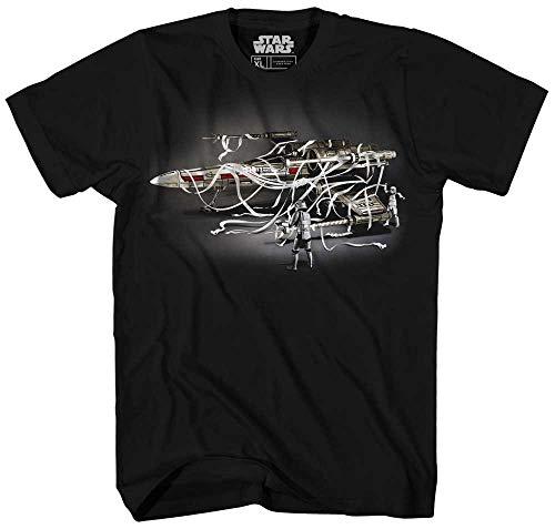 STAR WARS Stormtropper Storm Trooper X-Wing X Wipes Empire Toilet Paper Funny Humor Pun Mens Adult Graphic Tee T-Shirt (Black, Medium)