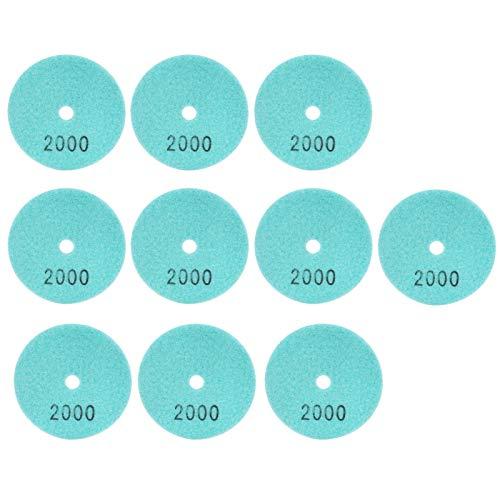 Almohadillas de pulido de diamante de 10 piezas de 3 pulgadas, discos de lijado de grano 2000, almohadillas de pulido de mármol de diamante para pulido, piedras de hormigón, malla 2000 para mármol de