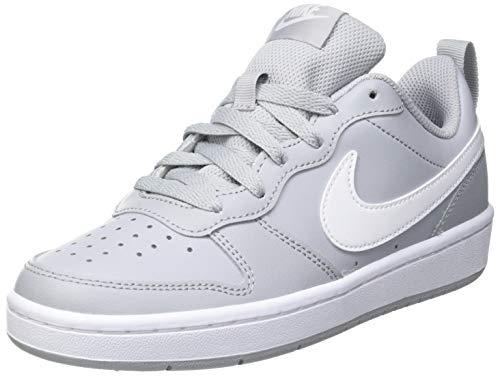 Nike Court Borough Low 2 (PSV), Scarpe da Basket, Wolf Grey/White, 33 EU