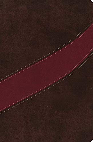 NASB, MacArthur Study Bible, The, Leathersoft, Brown/Red, Thumb Indexed: Holy Bible, New American Standard Bible (Signature)